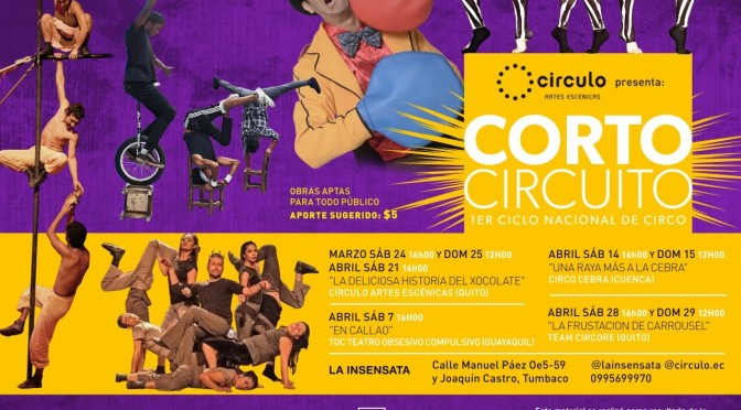 """El circo en Tumbaco: """"Corto Circuito"""""""