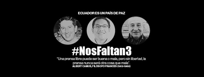 Cuatro días de luto por la muerte del equipo periodístico de diario El Comercio