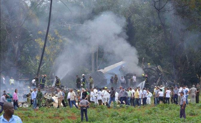 Avión con 104 pasajeros se estrelló en Cuba