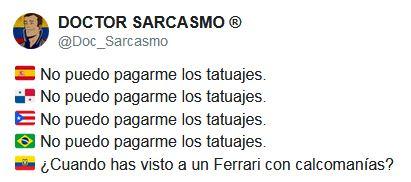 Ferrari y tatuajes llenan de memes a las redes sociales