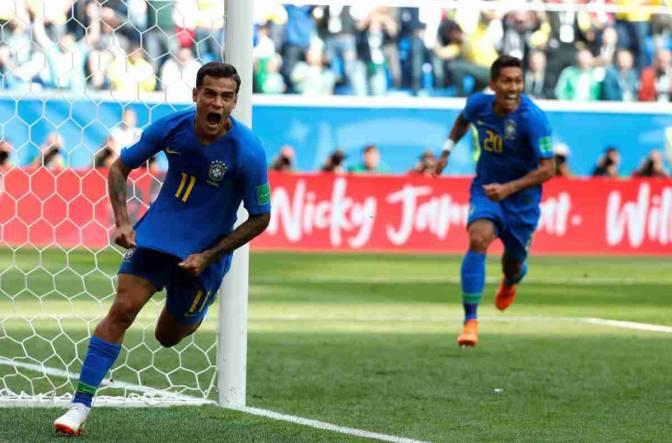 Brasil venció a Costa Rica en los últimos minutos