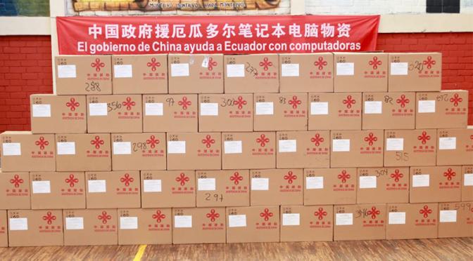 China dona 10 mil computadoras a Ecuador