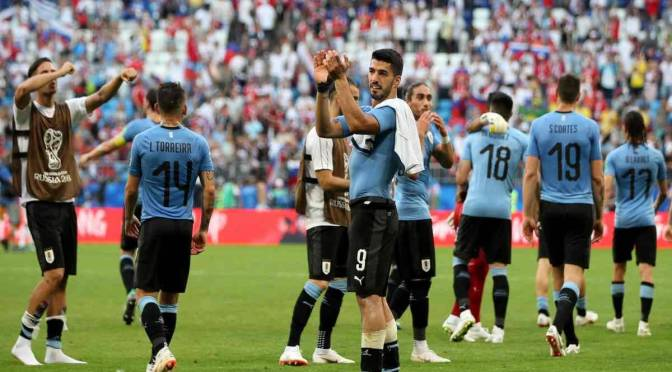 Uruguay y España clasifican en el primer lugar
