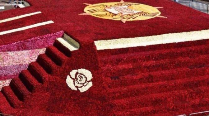 Ecuador logra récord Guinness con más de 500 mil rosas