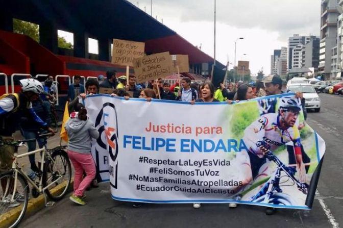 Ciclistas participarán en un plantón por Felipe Endara