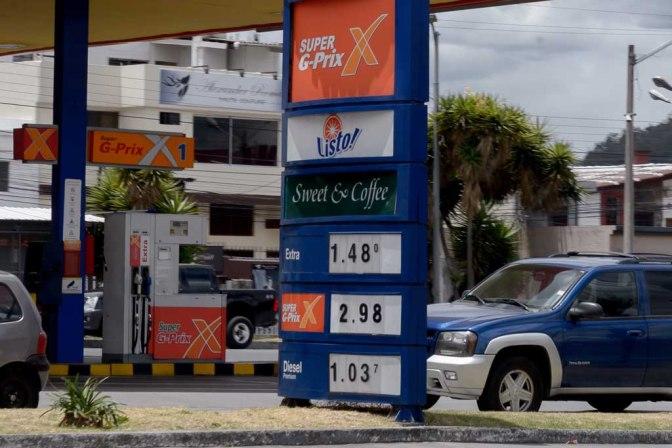 El precio del diésel se mantiene en $ 1,037