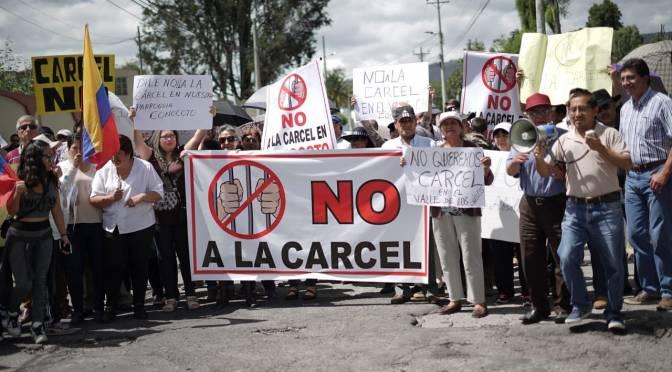 Conocoto protesta ante posible traslado de unos 200 PPL