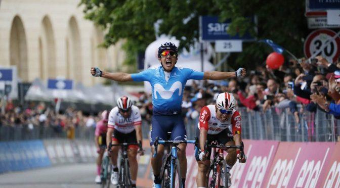 Carapaz sube la octavo lugar del Giro de Italia