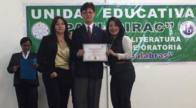 Colegio Benalcázar gana concursos de Oratoria y Teatro