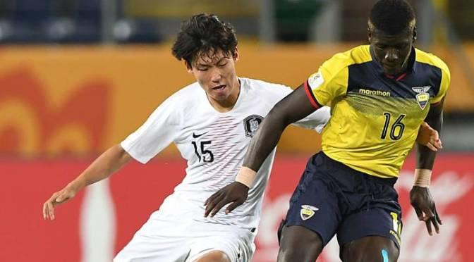 Ecuador pierde 1-0 ante Corea del Sur en la semifinal del Sub-20