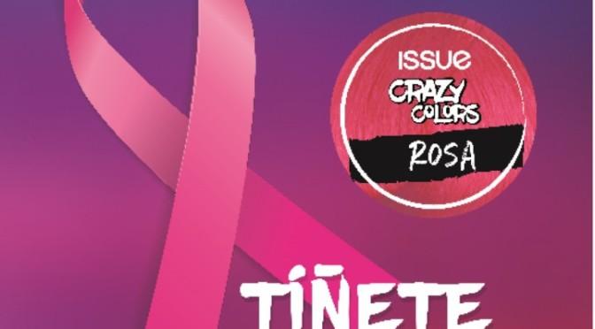 Un mechón de rosa por el cáncer de mama